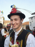 Man Wearing Zdanice Folk Dress During Feast with Law Festival  Zdanice  Brnensko  Czech Republic