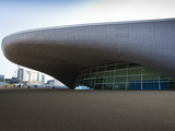The Entrance to the The Aquatics Centre in the Olympic Park  London  England  United Kingdom