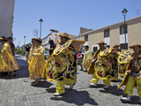 Wedding Procession with Traditionally Dressed Peruvians  Arequipa  Peru  South America