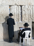 Jewish Quarter of Western Wall Plaza  People Praying at Wailing Wall  Old City  Jerusalem  Israel