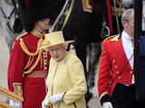 Hm Queen  Trooping Colour 2012  Queen's Birthday Parade  Whitehall  Horse Guards  London  England