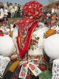 Woman Wearing Folk Dress During Autumn Feast Festival  Borsice  Brnensko  Czech Republic  Europe