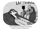 """""""I don't mind the voices themselves  Doctor It's the Jersey accents that …"""" - New Yorker Cartoon"""