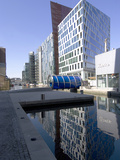 New Architectural Development Alongside Paddington Basin  Part of Regent's Canal  London  England
