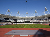 Inside the Olympic Stadium During the Gold Challenge Event  London  England  United Kingdom  Europe