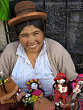 Indigenous Lady Selling Dolls  Arequipa  Peru  South America