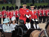 The Duchesses of Cornwall and Cambridge  Trooping Colour 2012  Queen's Bday Parade  London  England