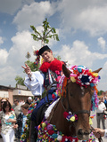 Man Wearing Vlcnov Folk Dress During Ride of Kings Festival  Vlcnov  Zlinsko  Czech Republic