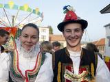 Woman and Man Wearing Zdanice Folk Dress  Village of Zdanice  Brnensko  Czech Republic