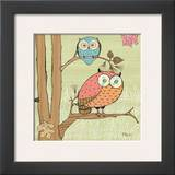Pastel Owls I