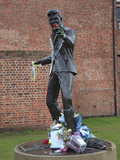 Sculpture of Singer Songwriter Billy Fury  Liverpool  Merseyside  England  United Kingdom  Europe