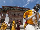 Traditional Buddhist Festival in Ura  Bumthang  Bhutan  Asia