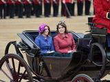 Princesses Beatrice and Eugenie of York  Trooping Colour 2012  Quuen's Bday Parade  London  England