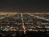 Los Angeles at Night  Los Angeles  California  United States of America  North America
