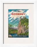 Pan American: Germany der Rhine  c1950s