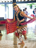 Woman Performing Traditional Javanese Dance at Sultan's Palace (Kraton)  Yogyakarta  Indonesia