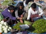Weekly Sunday Food Market  Paro  Bhutan  Asia