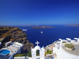 View of Caldera from Imerovigli  Santorini  Cyclades  Greek Islands  Greece  Europe