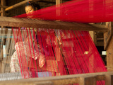 Young Girl at Loom  Soieries Du Mekong  the Silk Mill  Near Road Nh69  Banteay Chhmar  Cambodia