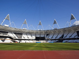Inside the Olympic Stadium with the Athletics Field  London  England  United Kingdom  Europe