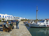 Harbour  Kastro  Antiparos  Paros  Cyclades  Aegean  Greek Islands  Greece  Europe