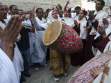 Ethiopian Good Friday Celebrations at the Holy Sepulcre  Old City  Jerusalem  Israel  Middle East