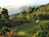 Garden with a View on Taal Lake  Tagaytay  Philippines  Southeast Asia  Asia