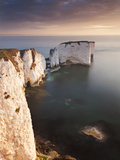 Old Harry Rocks at Sunrise  Studland  Jurassic Coast  UNESCO World Heritage Site  Dorset  England