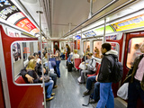 Interior of Subway Train  Toronto  Ontario  Canada  North America