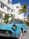 Avalon Hotel and Classic Car on South Beach  City of Miami Beach  Florida  USA  North America