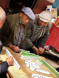 Men Playing Mahjong  Baisha Village  Lijiang  Yunnan Province  China  Asia