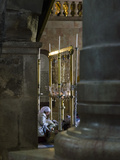 Female Pilgrims Prostrating at Stone of Anointing  Holy Sepulchre  Old City  Jerusalem  Israel