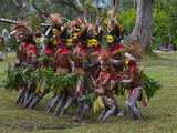Local Tribes Celebrating Traditional Sing Sing in Paya  Papua New Guinea  Melanesia  Pacific