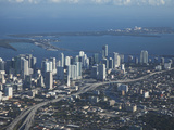 Aerial View of Miami  Florida  United States of America  North America