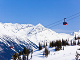Peak 2 Peak Gondola Between Whistler and Blackcomb Mountains  Whistler Blackcomb Ski Resort  Canada