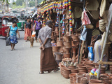 Clay Products at Market  Weligama  Southern Province  Sri Lanka  Asia