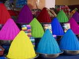 Coloured Powders for Sale  Devaraja Market  Mysore  Karnataka  India  Asia