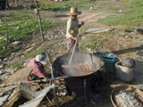 Cooking and Drying of Prawns in Fishing Village of Lay Win Kwin Village  Myanmar (Burma)