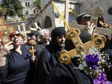 Orthodox Good Friday Processions on the Way of the Cross  Old City  Jerusalem  Israel  Middle East