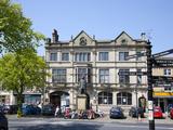 Skipton High Street and Library  Skipton  North Yorkshire  Yorkshire  England  United Kingdom