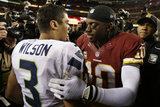 NFL Playoffs 2013: Seahawks vs Redskins - Robert Griffin III and Russell Wilson