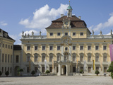 Inner Courtyard and Buildings of 18th Century Baroque Residenzschloss  Ludwigsburg  Germany