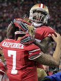 NFL Playoffs 2013: Packers vs 49ers - Colin Kaepernick and Vernon Davis