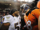 NFL Playoffs 2013: Ravens vs Broncos - Ray Lewis and Peyton Manning