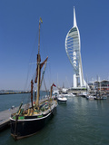 Spinnaker Tower from Gunwharf  Portsmouth  Hampshire  England  United Kingdom  Europe
