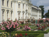 The Rose Garden  18th Century Baroque Residenzschloss  Ludwigsburg  Germany