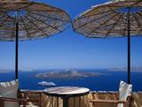 Terrace Overlooking the Caldera  Santorini  Cyclades  Greek Islands  Greece  Europe