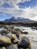 View of the Black Cuillin Mountain Sgurr Nan Gillean  Glen Sligachan  Isle of Skye  Scotland