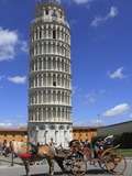 Horse and Carriage by Leaning Tower  UNESCO World Heritage Site  Pisa  Tuscany  Italy  Europe