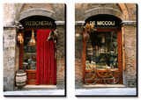 Bicycle Parked Outside Historic Food Store, Siena, Tuscany, Italy Tableau multi toiles par John Elk III